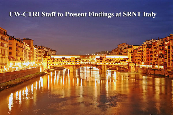 CTRI Staff to Present Findings at SRNT Italy