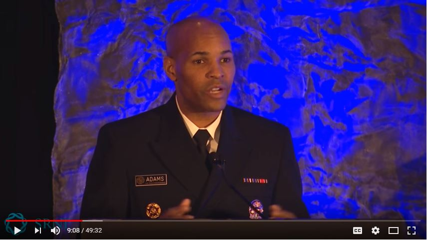 US Surgeon General Jerome Adams spoke to a packed audience at SRNT 2018, pledging to address smoking addiction and death in the United States, including menthol flavoring.