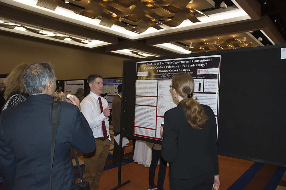 UW-CTRI Collaborator Will Bringgold presents research on smoking and pulmonary health in Baltimore.