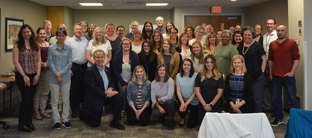 UW-CTRI and VA staff gather for a photo at the UW-CTRI Spring All Staff Meeting at the VA in Madison.