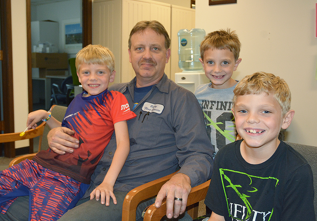 David Yahn's sons Mason, Vincent, and Michael said they are happy he and their mom, Shannon, quit smoking.