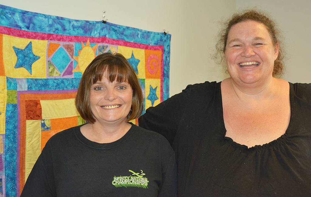 Shannon Yahn (left) credited her health counselor, Chris Ripley (right), for helping her quit smoking.